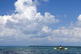 Kayaking around Barrier Reef, Southwater Cay, Belize Fotografie-Druck von Cindy Miller Hopkins