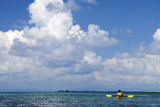 Kayaking around Barrier Reef, Southwater Cay, Belize Photographic Print by Cindy Miller Hopkins