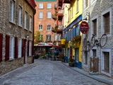 The Streets of Old Quebec City in Quebec, Canada Fotografisk trykk av Joe Restuccia III