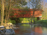 Covered Bridge over Sinking Crook, Newport, Virginia, USA Photographic Print by Charles Gurche