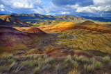 Landscape of the Painted Hills, Oregon, USA Photographic Print by  Jaynes Gallery