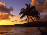 Tropical Sunrise on the Garden Isle, Kauai, Hawaii, USA Photographic Print by Jerry Ginsberg