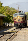 Napa Valley Wine Train in Train Station, California, USA Photographic Print by Cindy Miller Hopkins