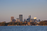 City Skyline from Lake Calhoun, Sunset, Minneapolis, Minnesota, USA Photographic Print by Walter Bibikow