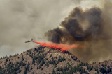 Slurry Bomber Dropping Fire Retardant, Boulder, Colorado, USA Photographic Print by Frank Zurey