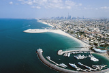 Aerial View of Jumeirah Beach Hotel, Dubai, United Arab Emirates Photographic Print by Bill Bachmann
