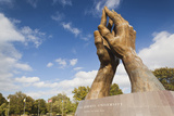 Praying Hands, Oral Roberts University, Tulsa, Oklahoma, USA Photographic Print by Walter Bibikow