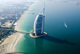 Aerial View of the Burj Al Arab, Dubai, United Arab Emirates Photographic Print by Bill Bachmann
