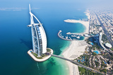 Aerial View of the Burj Al Arab, Dubai, United Arab Emirates Fotografie-Druck von Bill Bachmann