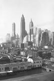 Lower New York City Skyline, 1947, New York, USA Photographic Print by Peter Bennett