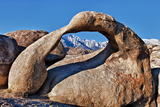 Mobius Arch Framing Mt Whitney in Long Pine, California, USA Photographic Print by Joe Restuccia III