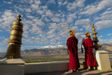 Monks Playing Horns at Sunrise, Thiksey Monastery, Leh, Ledakh, India Photographic Print by Ellen Clark