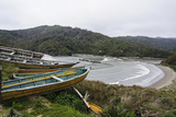 Old Wooden Fishing Boats on Coast of Chiloe, Region Los Lagos, Chile Photographic Print by Fredrik Norrsell