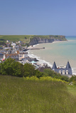 Elevated Town View, Arromanches Les Bains, Normandy, France Photographic Print by Walter Bibikow