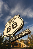 National Route 66 Sign at Sunset, Elk City, Oklahoma, USA Photographic Print by Walter Bibikow