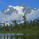 Picture Lake and Mt Shuksan, North Cascades NP, Washington, USA Photographic Print by Charles Gurche