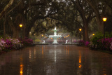 Forsyth Park Fountain with Spring Azaleas, Savannah, Georgia, USA Photographic Print by Joanne Wells