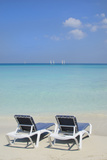 Sand and Beach Chairs Await Tourists, Varadero, Cuba Photographic Print by Bill Bachmann