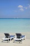 Sand and Beach Chairs Await Tourists, Varadero, Cuba Photographic Print by Bill Bachmann