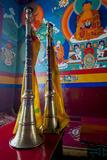 Ceremonial Horns at Shey Palace, Ledakh, India Photographic Print by Ellen Clark