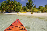 Kayaking in Clear Waters, Southwater Cay, Belize Fotografie-Druck von Cindy Miller Hopkins