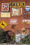 Wall of Advertising Signs, Erick, Oklahoma, USA Photographic Print by Walter Bibikow