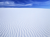 Sparkling White Rippled Gypsum Dunes, White Sands Nm, New Mexico, USA Photographic Print by Jerry Ginsberg