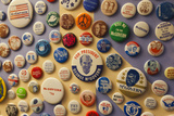 Campaign Buttons, McGovern Legacy Museum, Mitchell, South Dakota, USA Photographic Print by Walter Bibikow