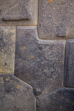 Inca Stone Wall Detail, Sacred Valley, Ollantaytambo, Cuzco, Peru Photographic Print by John & Lisa Merrill