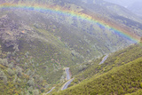 Rainbow over Highway 49, Hell Hollow, California, USA Photographic Print by  Jaynes Gallery