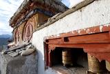 Prayer Wheels and a Decorated Chorten, Ladakh, India Photographic Print by Ellen Clark