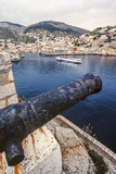 Cannon, Hydrofoil Boat, Harbor, Hydra Island, Greece Photographic Print by Ali Kabas