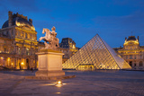 Twilight at Musee Du Louvre, Paris, France Photographic Print by Brian Jannsen