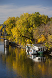 Mississippi River Houseboats, Autumn, Minneapolis, Minnesota, USA Photographic Print by Walter Bibikow