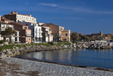Beachfront Buildings, Ile Rousse, La Balagne, Corsica, France Photographic Print by Walter Bibikow
