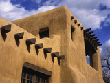 New Mexico Adobe Architecture, Santa Fe, New Mexico, USA Photographic Print by Jerry Ginsberg