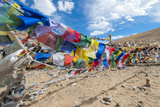 Namshangla Pass Strings of Prayer Flags, Ladakh Photographic Print by Ellen Clark