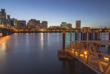 City Lights Reflected in the Willamette River, Portland, Oregon, USA Photographic Print by Chuck Haney