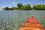 Kayaking in the Shallow Water, Southwater Cay, Stann Creek, Belize Photographic Print by Cindy Miller Hopkins