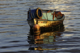Quaint Fishing Boat on Havana Bay at Sunrise, Havana, Cuba Photographic Print by Adam Jones