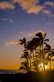 Sunset at Poipu Beach, Kauai, Hawaii, USA Photographic Print by Richard Duval