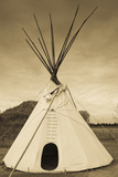 Native American Teepee, Grand Island, Nebraska, USA Photographic Print by Walter Bibikow