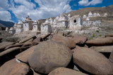 Chortens and Prayer Stones Below Stok Palace, Ledakh, India Photographic Print by Ellen Clark