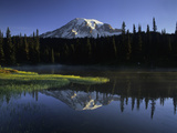 Early Morning Mt Rainier, Mt Rainier National Park, Washington Photographic Print by Jerry Ginsberg