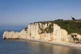 Falaise De Amont Cliffs, Etretat, Normandy, France Photographic Print by Walter Bibikow