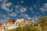 Prayer Flags Flying at Thiksey Monastery, Leh, Ledakh, India Photographic Print by Ellen Clark
