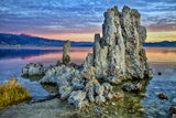 Sunrise on Tufa Formations, Mono Lake, California, USA Photographic Print by  Jaynes Gallery