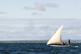 Men Sailing on the Sea of Zanj, Ihla Das Rolas, Mozambique Photographic Print by Alida Latham