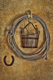 Western Decor in a Rustic Cabin, Bishop, California, USA Photographic Print by  Jaynes Gallery