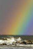 Rainbow and Waves, Hookipa Beach Park, Mauii, Hawaii, USA Photographic Print by  Jaynes Gallery